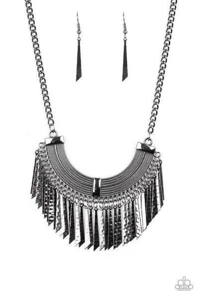 Paparazzi Necklace ~ Impressively Incan - Black