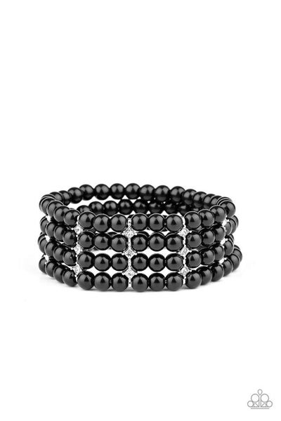 Paparazzi Bracelet ~ Stacked To The Top - Black