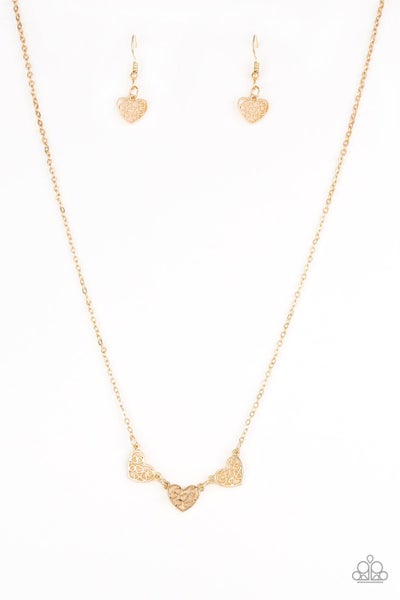 Paparazzi Necklace ~ Another Love Story - Gold