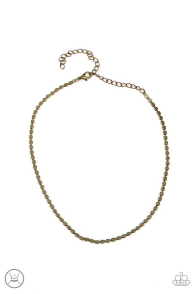 Paparazzi Necklace ~ When in CHROME - Brass