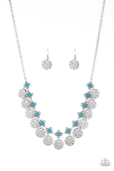 Paparazzi Necklace ~ Mandala Movement - Blue