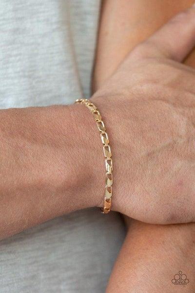 Men's Paparazzi Bracelet ~ K.O. - Gold