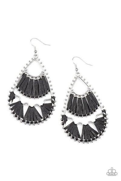Paparazzi Earring ~ Samba Scene - Black