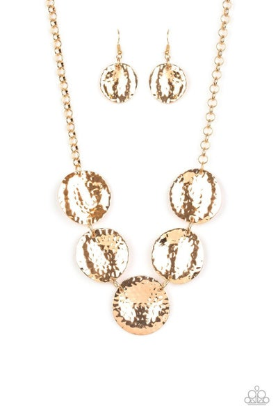 Paparazzi Necklace ~ First Impressions - Gold