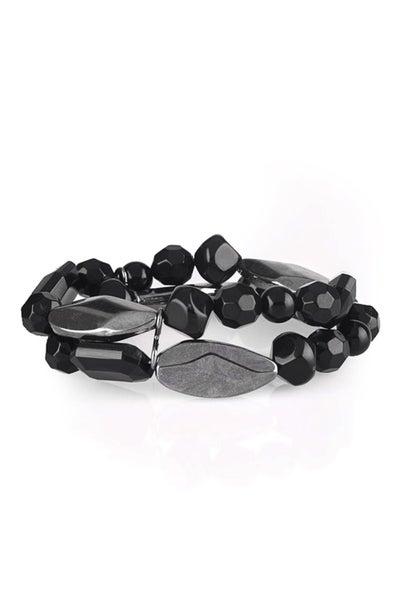 Paparazzi Bracelet ~ Rockin Rock Candy - Black