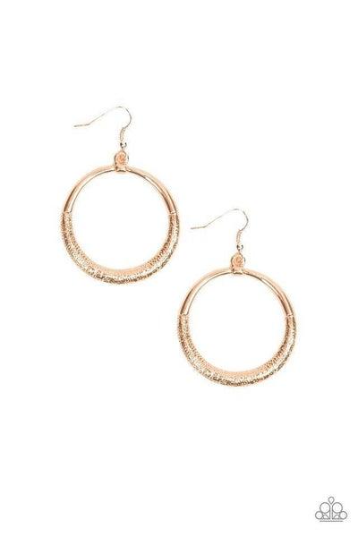Paparazzi Earring ~ Modern Shimmer - Rose Gold