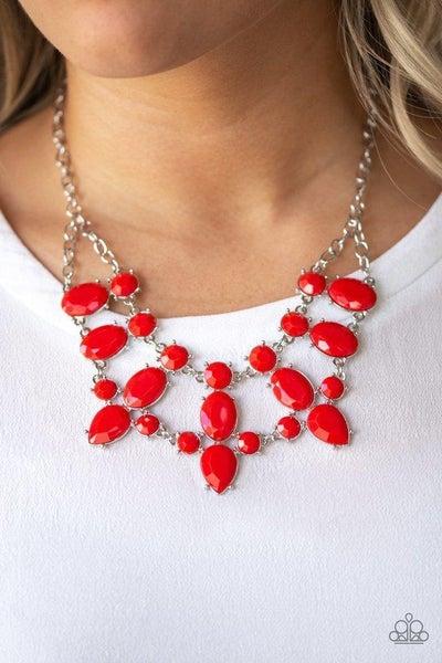 Paparazzi Necklace ~ Goddess Glow - Red