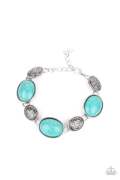 Paparazzi Bracelet ~ Cactus Country - Blue