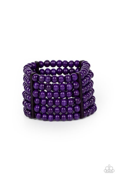 Paparazzi Bracelet ~ Tanning in Tanzania - Purple