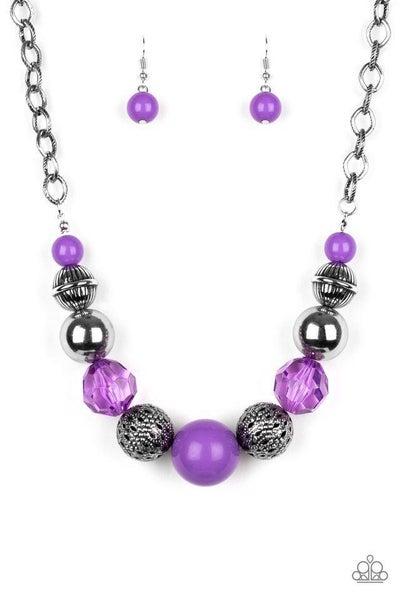 Paparazzi Necklace ~ Sugar, Sugar - Purple