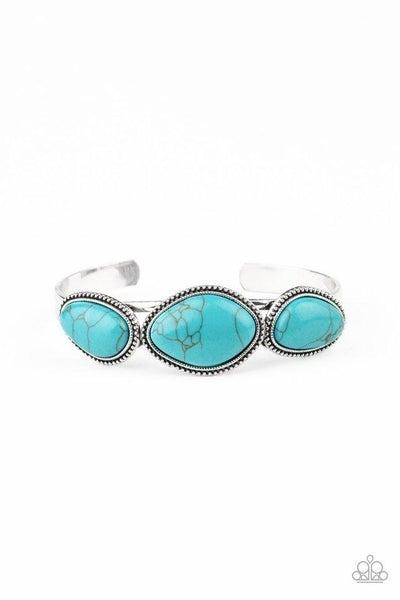 Paparazzi Bracelet ~ Stone Solace - Blue
