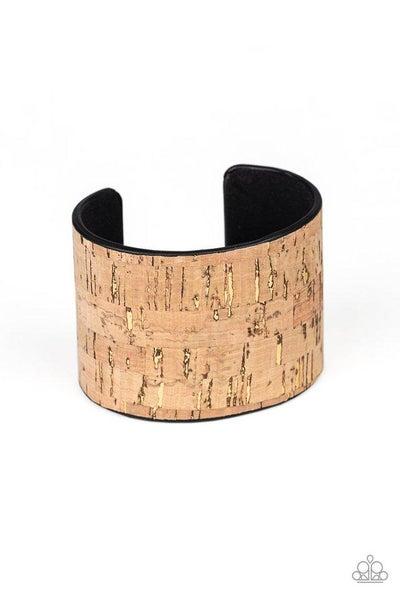Paparazzi Bracelet ~ Up To Scratch - Brown