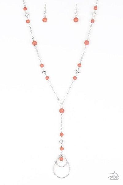 Paparazzi Necklace ~ Sandstone Savannahs - Orange