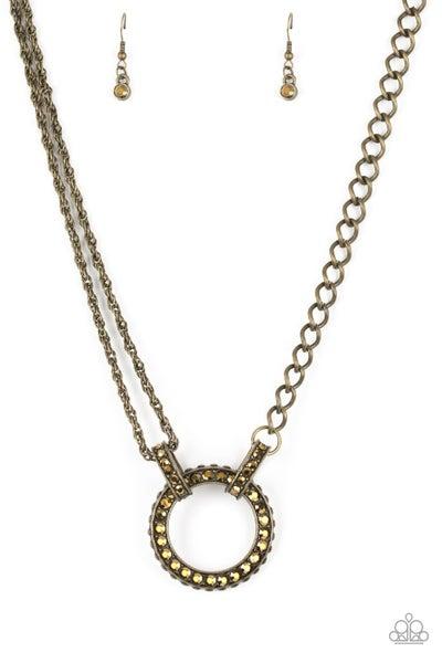 Paparazzi Necklace ~ Razzle Dazzle - Brass