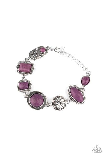 Paparazzi Bracelet ~ Gorgeously Groundskeeper - Purple