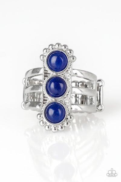 Paparazzi Ring ~ Rio Trio - Blue