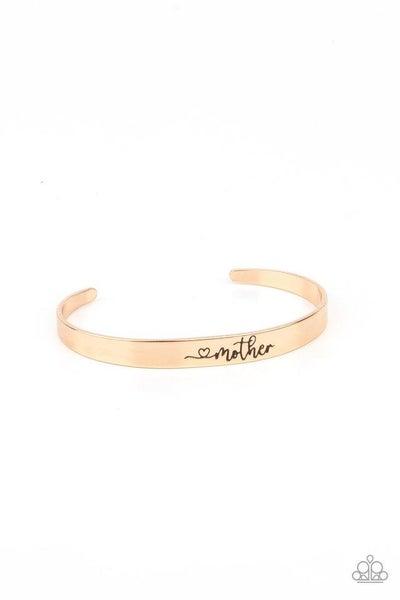 Paparazzi Bracelet ~ Sweetly Named - Gold