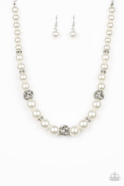 Paparazzi Necklace ~ Rich Girl Refinement - White