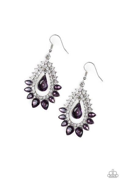 Paparazzi Earring ~ Boss Brilliance - Purple
