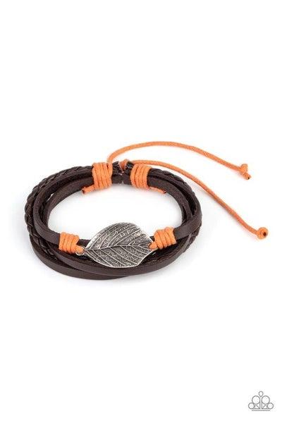 Paparazzi Bracelet ~ FROND and Center - Orange
