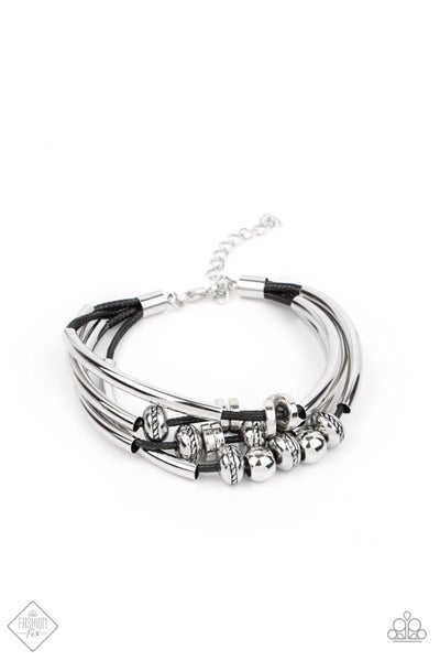 Paparazzi Bracelet Fashion Fix April 2021 ~ We Aim To Please - Black