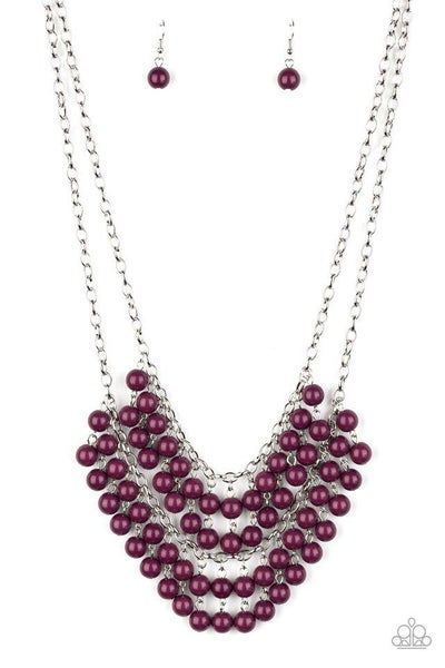Paparazzi Necklace ~ Bubbly Boardwalk - Purple