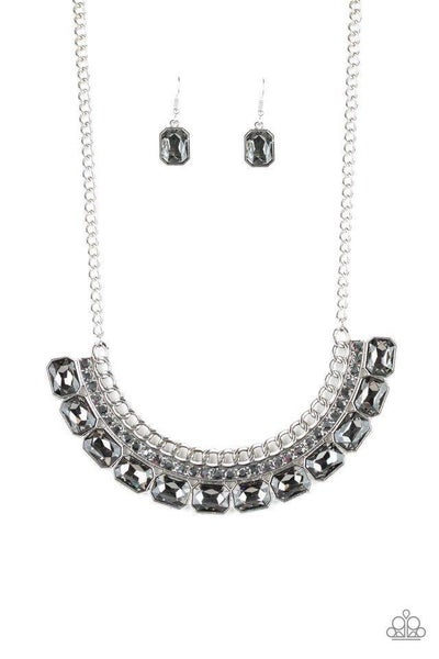 Paparazzi Necklace ~ Killer Knockout - Silver