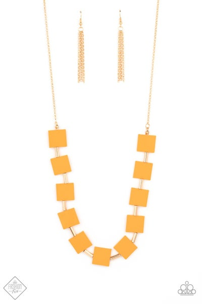 Paparazzi Necklace Fashion Fix April 2021 ~ Hello, Material Girl - Orange