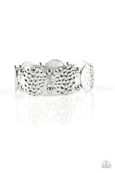Paparazzi Bracelet ~ GLISTEN and Learn - Silver