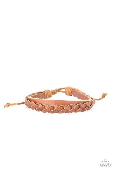 Paparazzi Bracelet PREORDER ~ Homespun Harmony - Brown