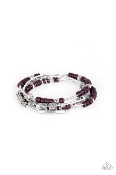 Paparazzi Bracelet ~ Tribal Spunk - Purple