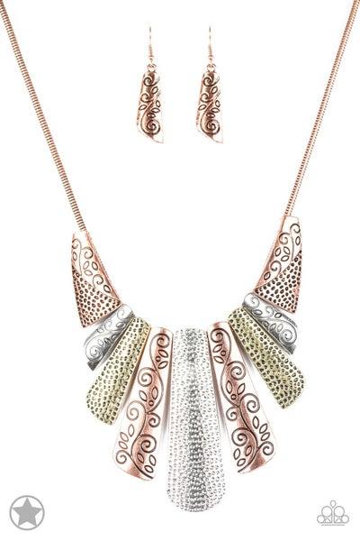 Paparazzi Necklace Blockbuster - Untamed - Copper