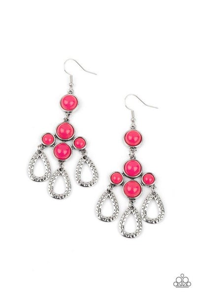 Paparazzi Earring ~ Mediterranean Magic - Pink