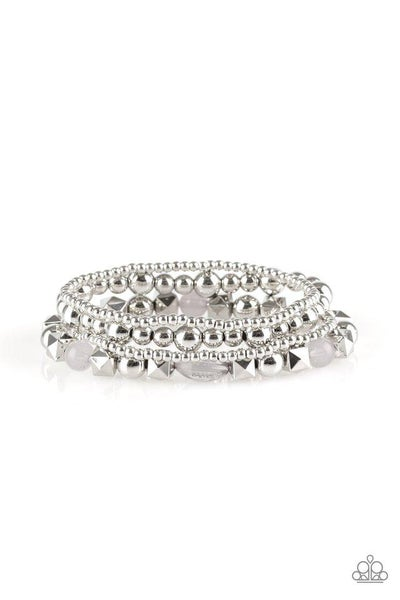 Paparazzi Bracelet ~ Babe-alicious - Silver