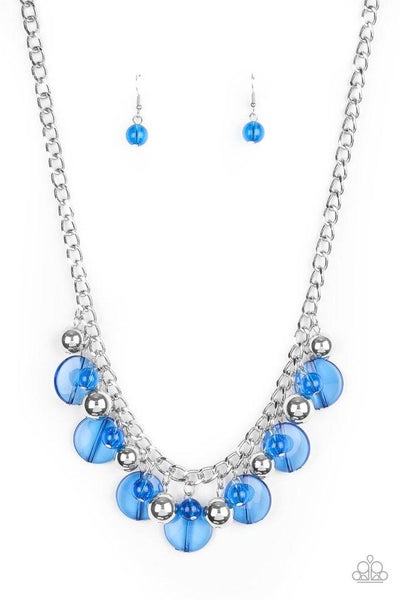 Paparazzi Necklace ~ Gossip Glam - Blue