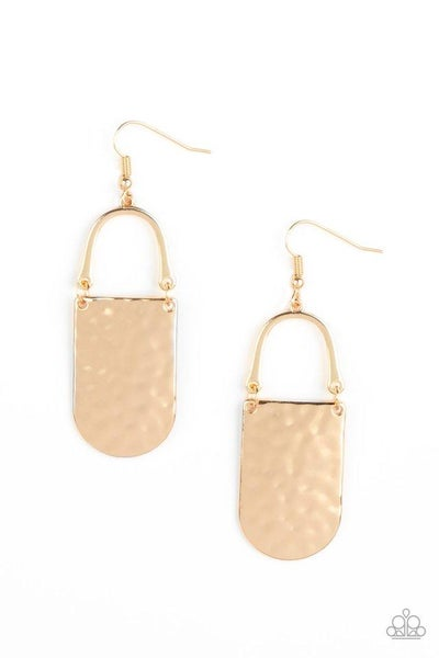 Paparazzi Earring ~ Resort Relic - Gold