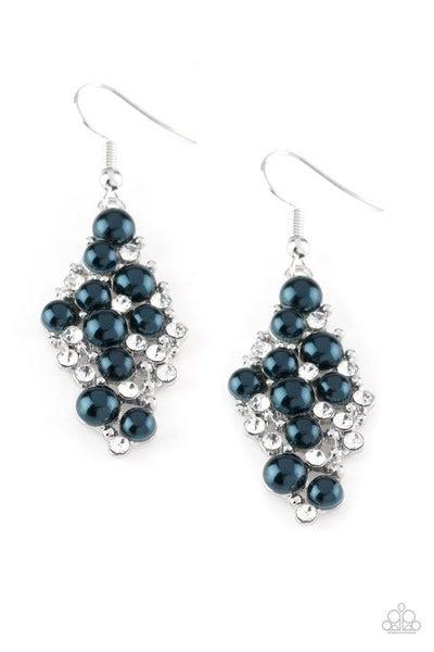 Paparazzi Earring ~ Famous Fashion - Blue