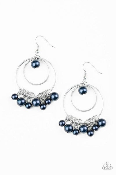 Paparazzi Earring ~ New York Attraction - Blue