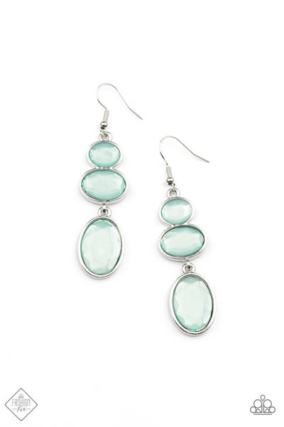 Paparazzi Earrings Fashion Fix May 2021 ~ Tiers Of Tranquility - Blue