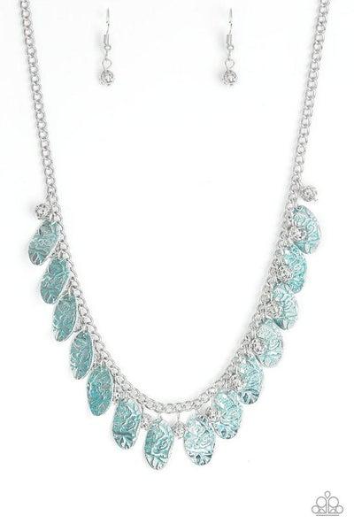 Paparazzi Necklace ~ Vintage Gardens - Blue