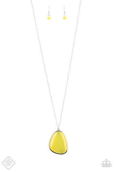 Paparazzi Necklace ~ Ethereal Experience - Yellow - Fashion Fix Aug2020