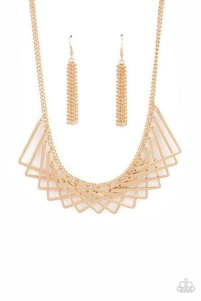 Paparazzi Necklace ~ Metro Mirage - Gold