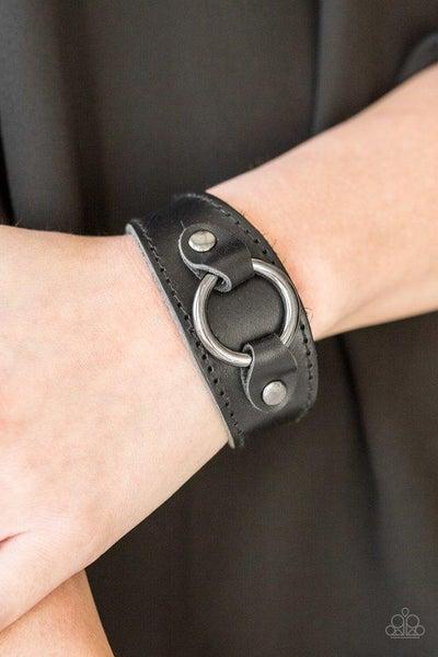 Paparazzi Bracelet ~ Western Wrangler - Black