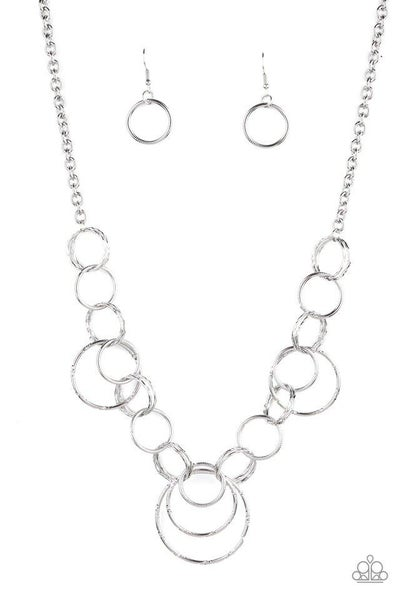 Paparazzi Necklace ~ Ringing Relic - Silver