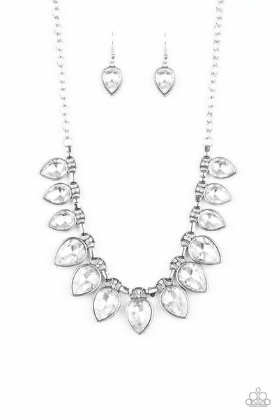 Paparazzi Necklace - FEARLESS is More - White