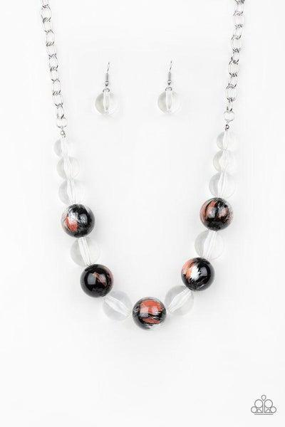 Paparazzi Necklace ~ Torrid Tide - Orange