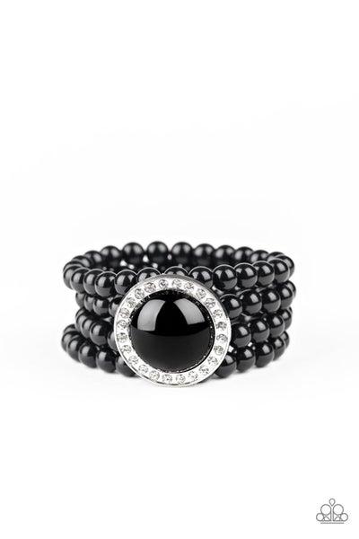 Paparazzi Bracelet ~ Top Tier Twinkle - Black