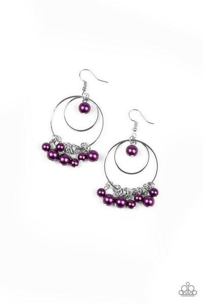 Paparazzi Earring ~ New York Attraction - Purple