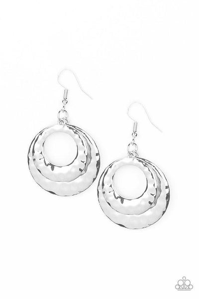 Paparazzi Earring ~ Perfectly Imperfect - Silver