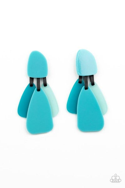 Paparazzi Earring ~ All FAUX One - Blue